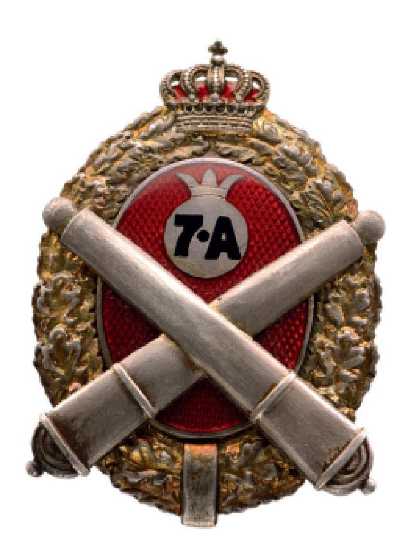 "Regimental Badge ""7th Artillery Regiment"", Buzau"