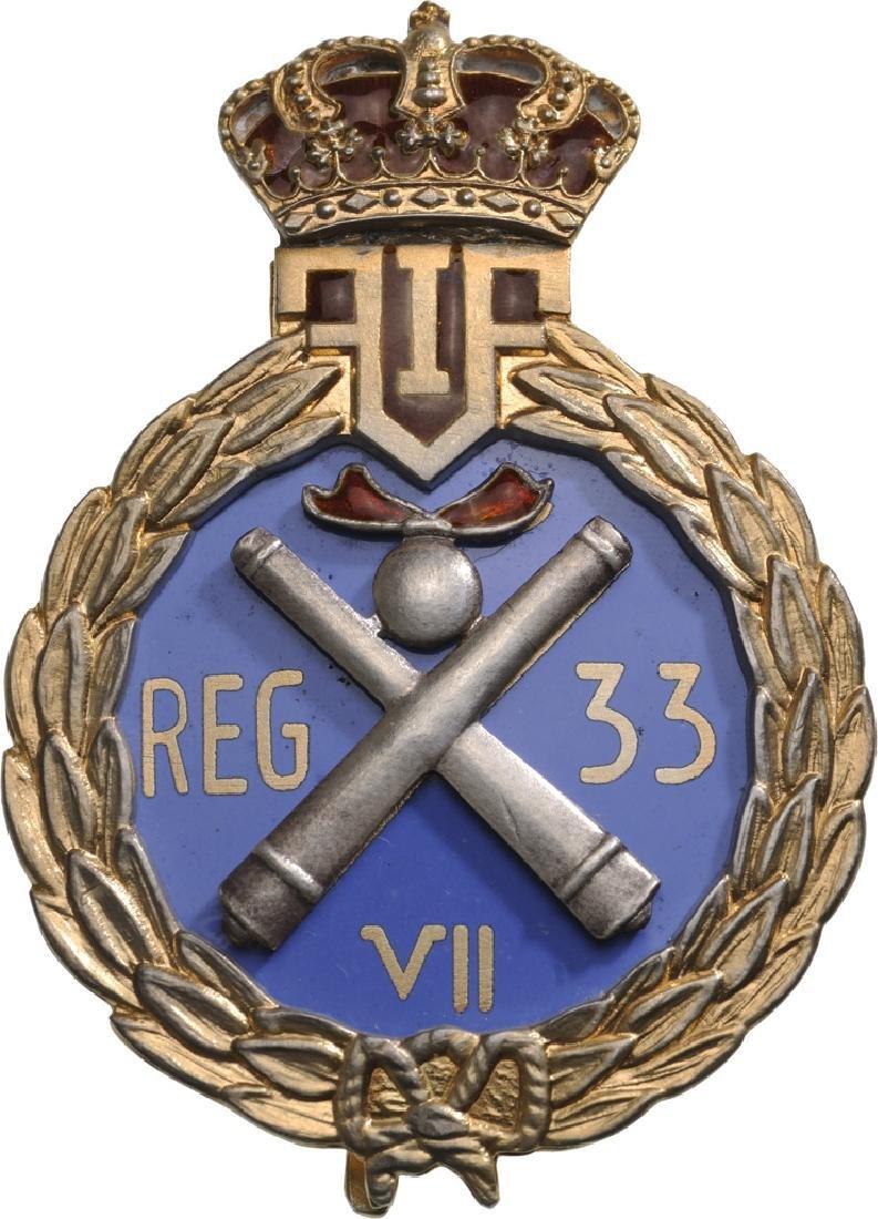 "Regimental Badge ""33rd Artillery Regiment"""