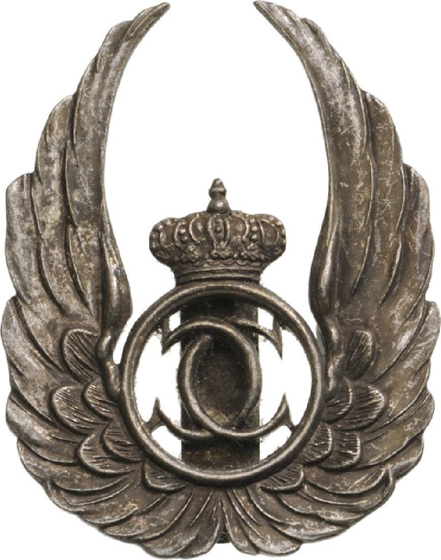 Observer Badge, King Carol II Model with a cut-out chip
