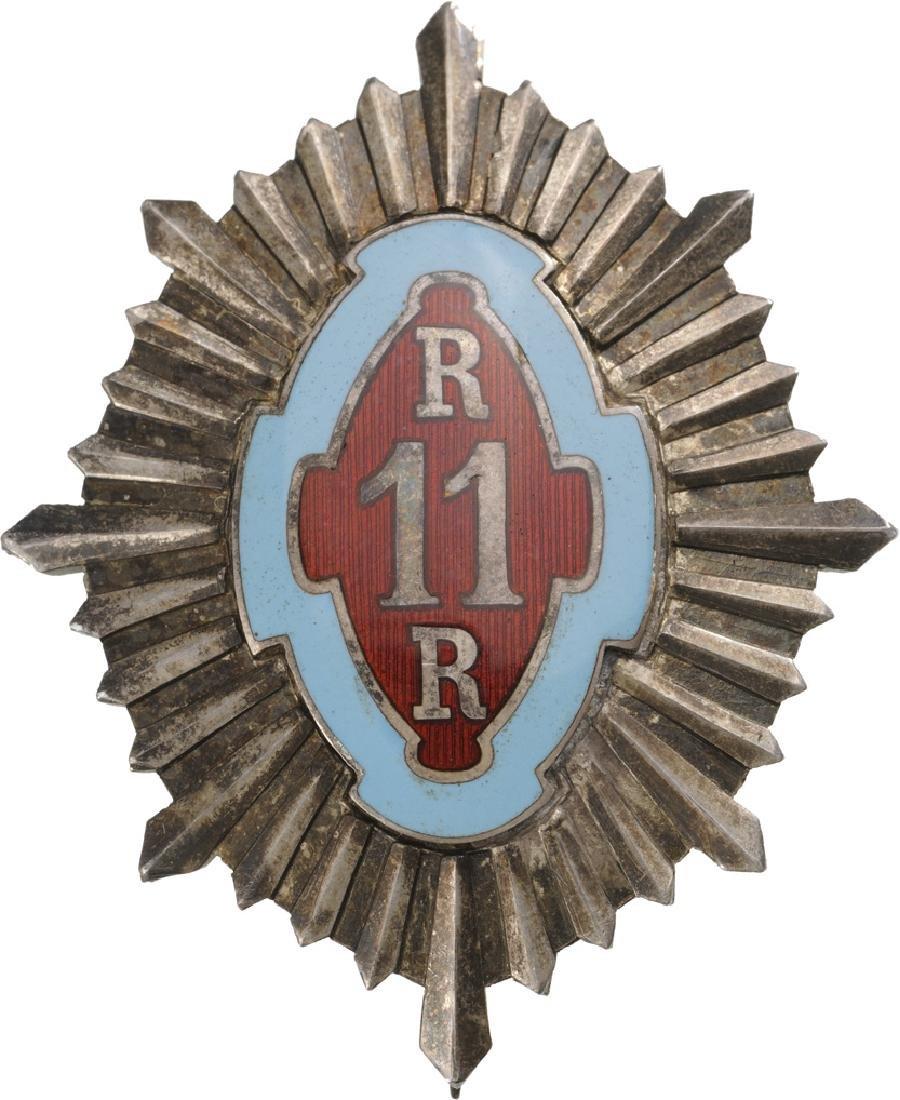 """Regimental Badge """"11th Rosiori (Elite Cavalry)"""