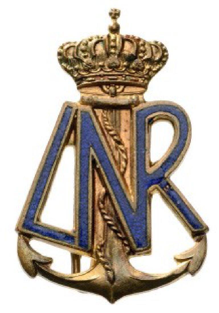 Royal Naval Ligue Badge, 1930