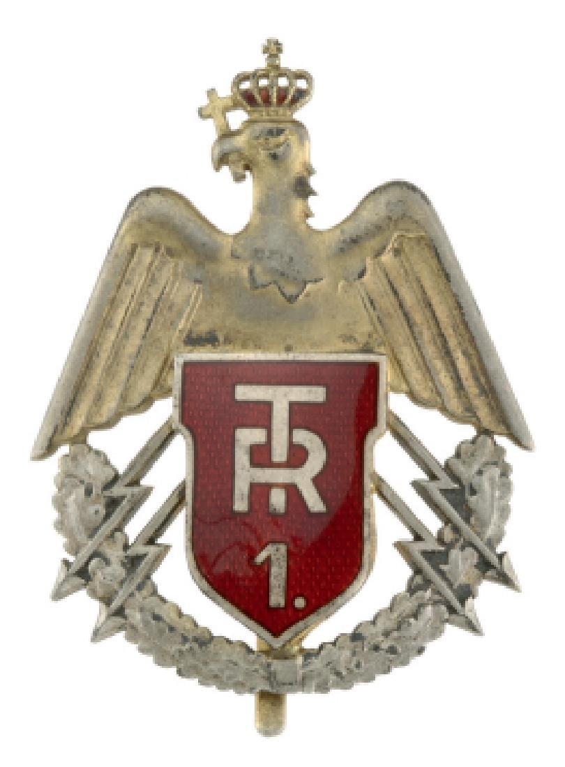 "REGIMENTAL BADGES ""1ST TRANSMISSIONS REGIMENT"""