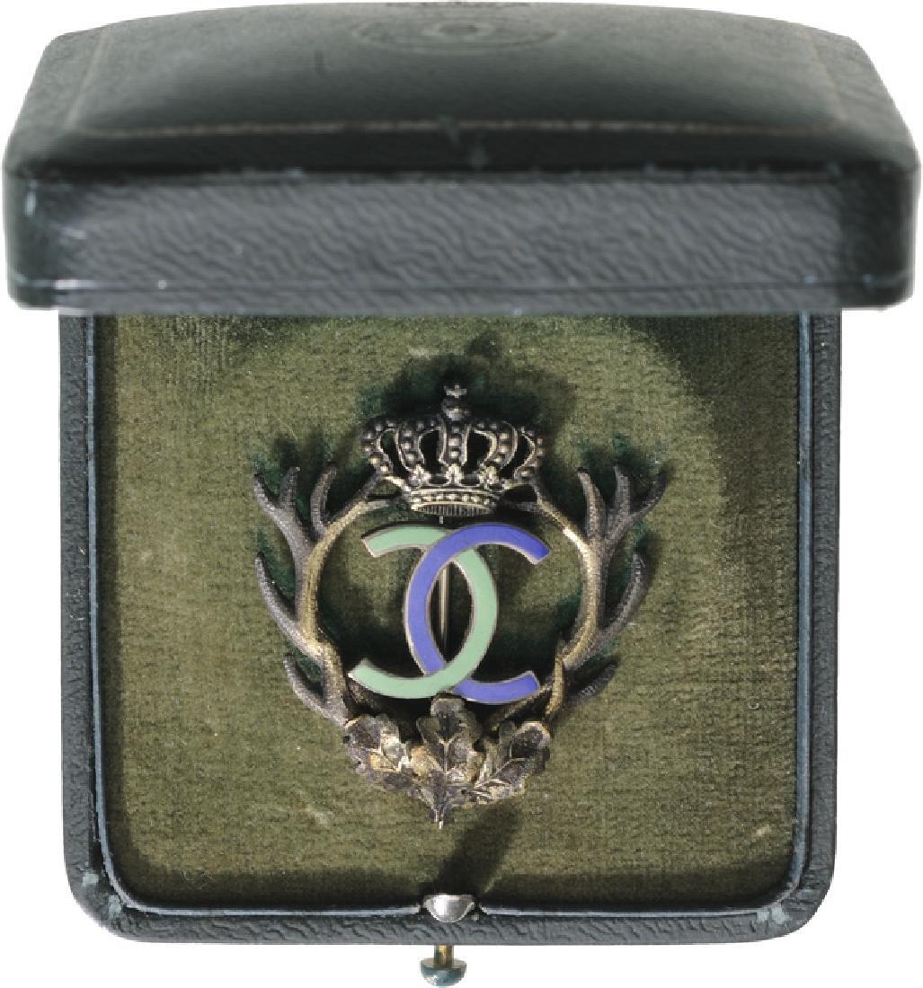 """Royal Hunting Club"" Badge, King Carol II, 1930-1940"
