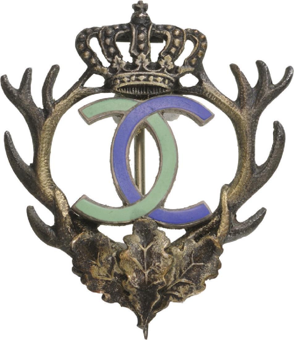 """Royal Hunting Club"" Badge, King Carol II, 1930-1940 - 3"