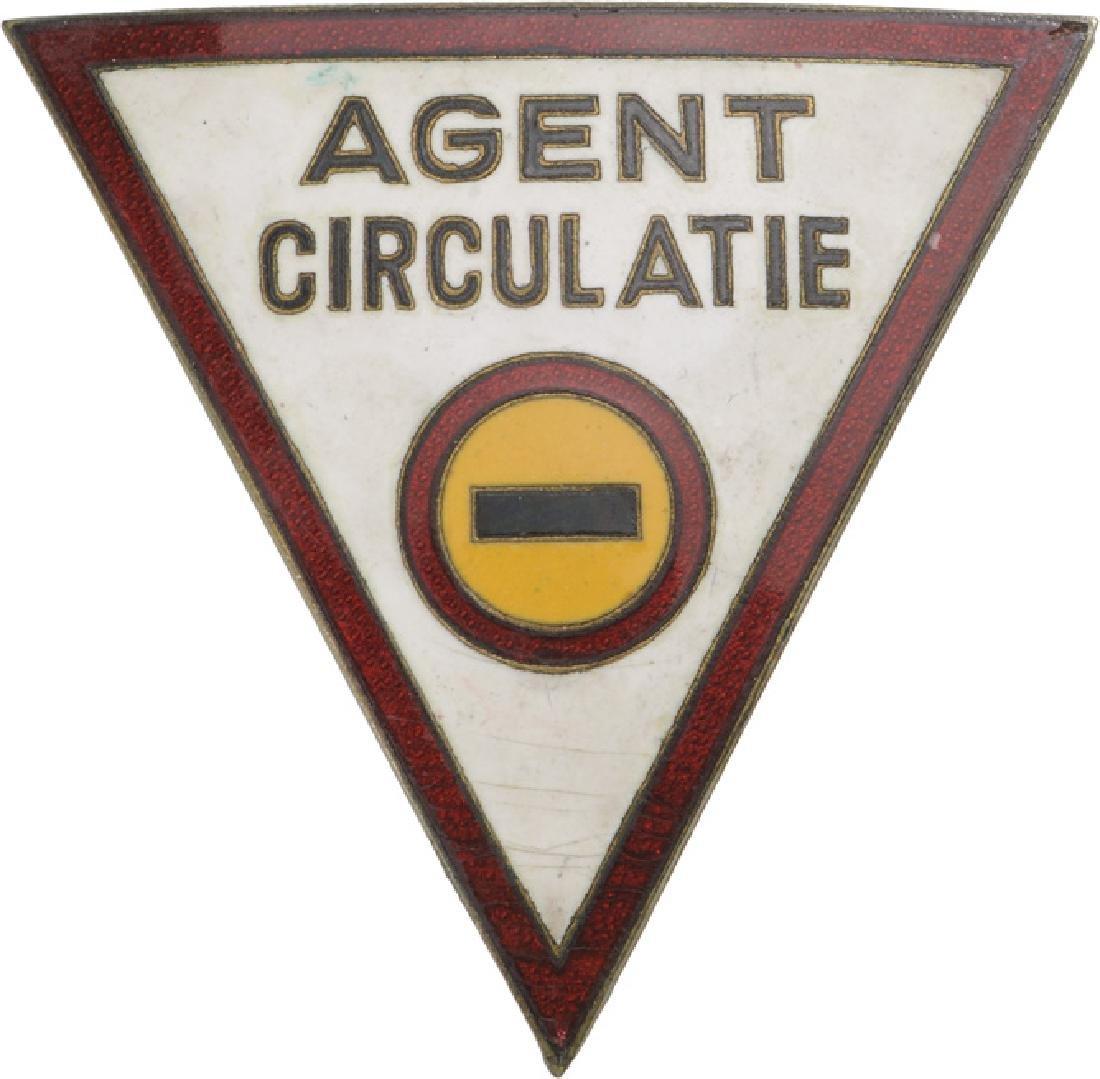 Traffic Officer Badge, 1930