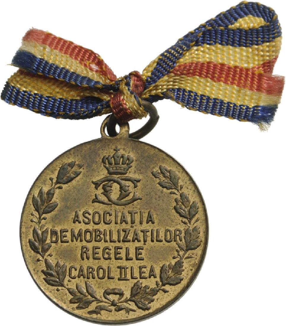 Demobilized Association Medallion, Carol II - 2
