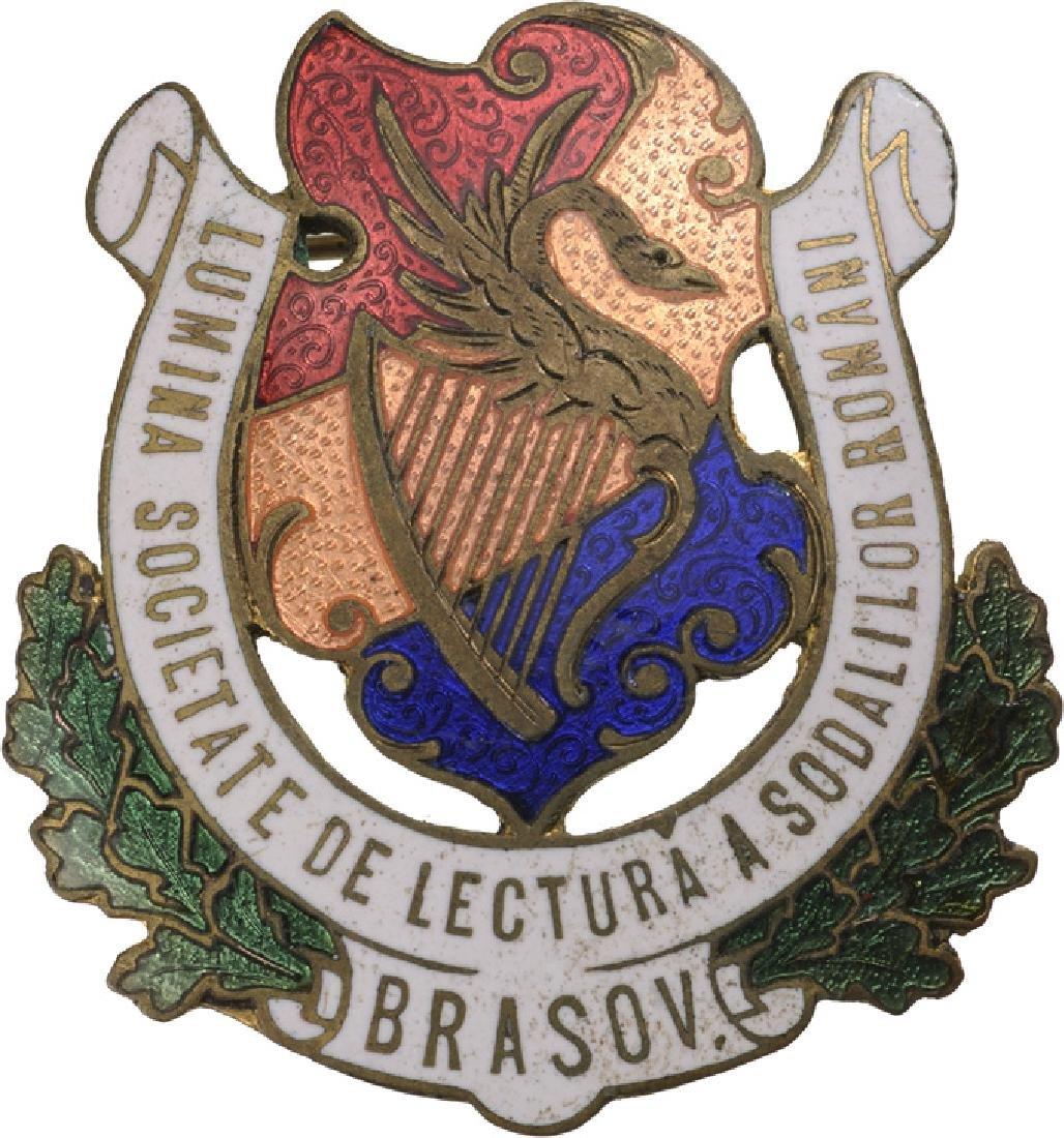 """Lumina"" Brasov Soldier Reading Society Badge Badge"