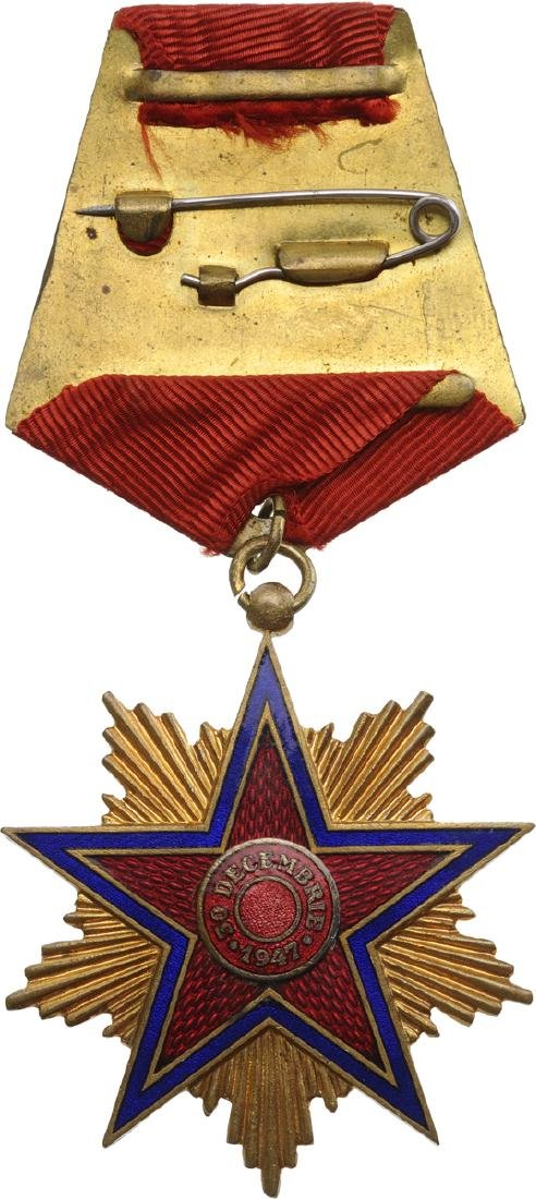 RPR - ORDER OF THE STAR OF ROMANIA, instituted in 1948 - 5