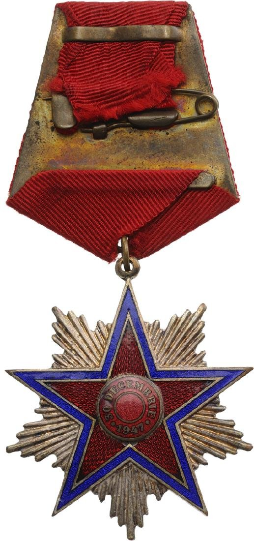 RPR - ORDER OF THE STAR OF ROMANIA, instituted in 1948 - 6