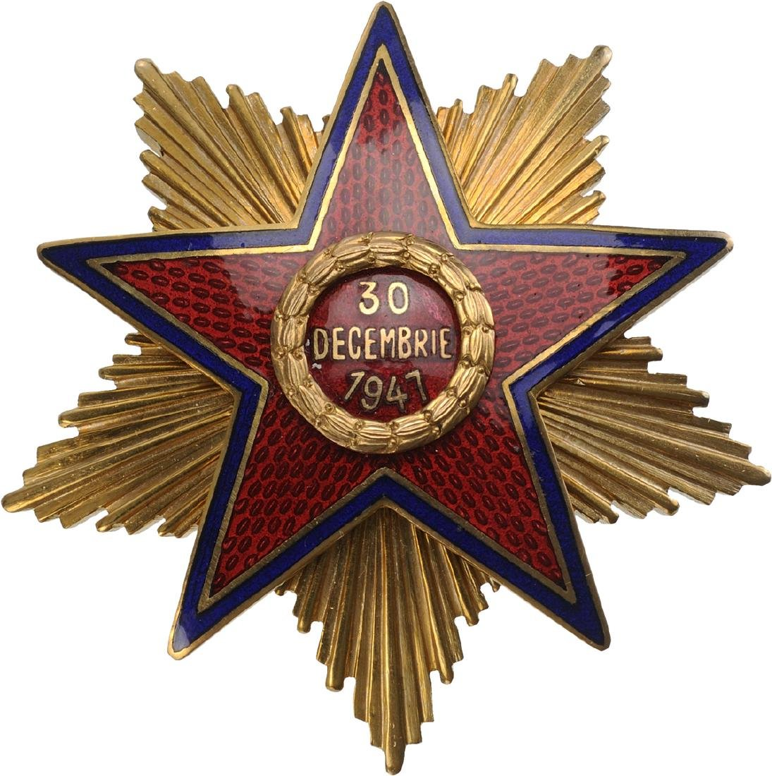 RPR - ORDER OF THE STAR OF ROMANIA, instituted in 1948 - 7