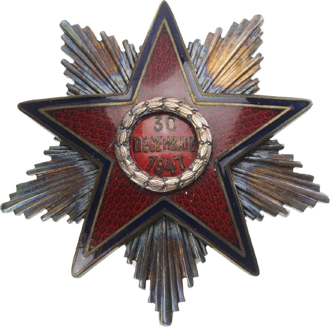 RPR - ORDER OF THE STAR OF ROMANIA, instituted in 1948 - 8