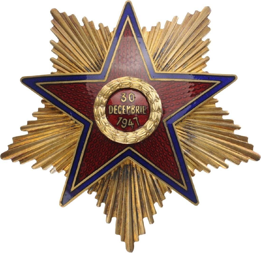 RPR - ORDER OF THE STAR OF ROMANIA, instituted in 1948 - 9