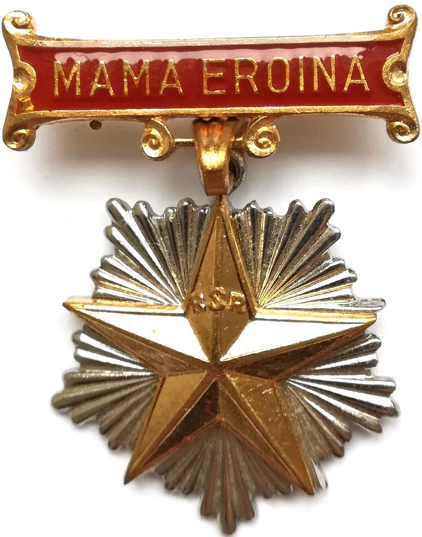 """RSR - ORDER OF """"HEROIC MOTHER"""", 1966 - 1989"""