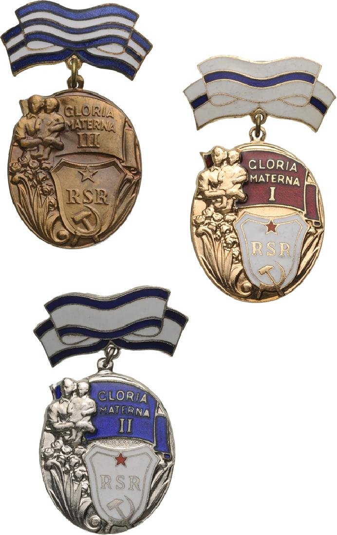 RSR - ORDER OF GLORIOUS MOTHERHOOD, instituted in 1951