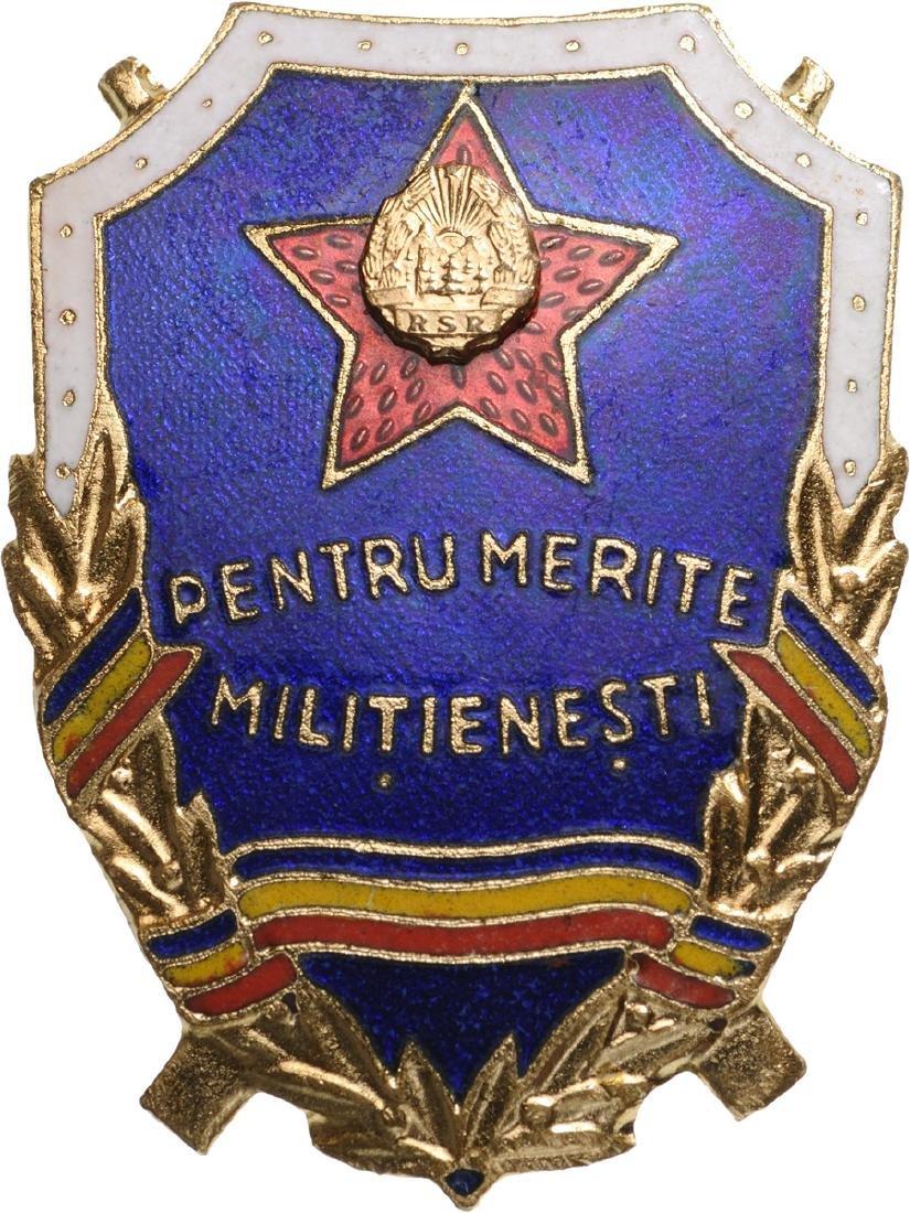 RPR - BADGE FOR MERIT IN THE MILITIA