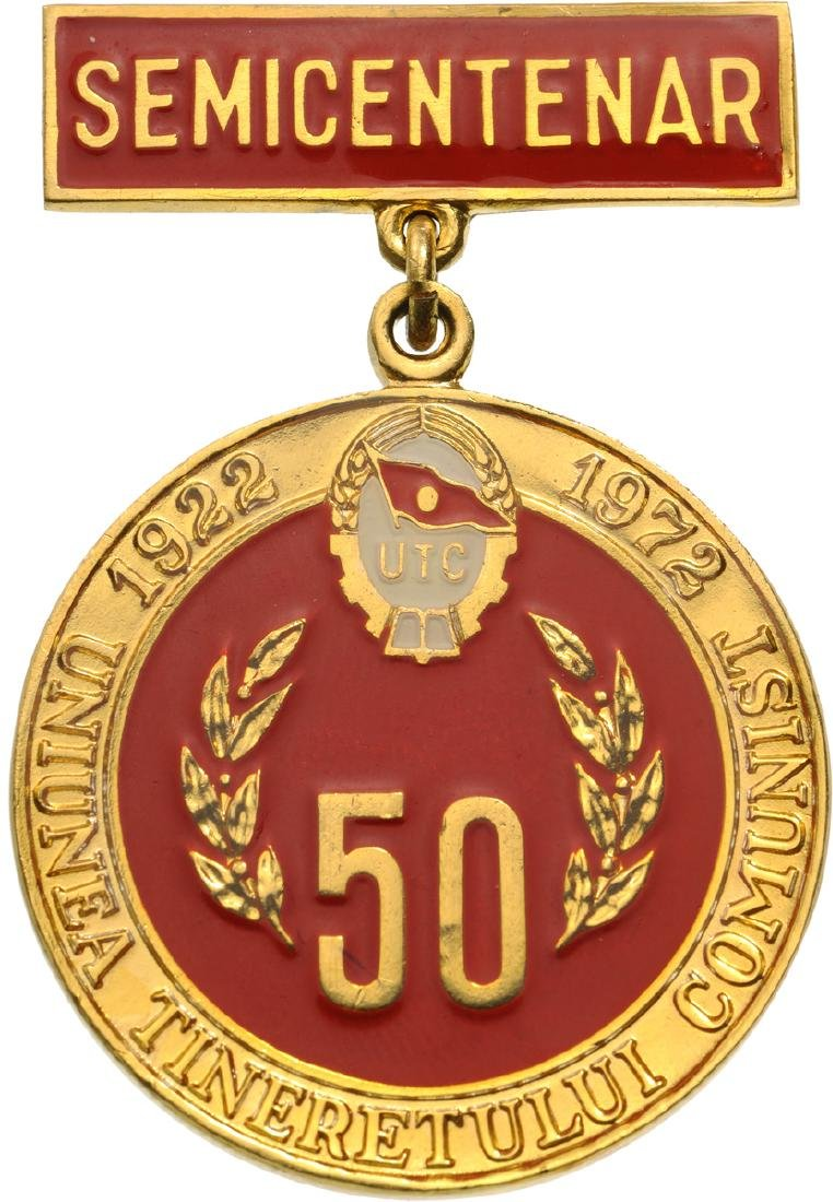 Badge for the 50th Anniversary of the Romanian Youth