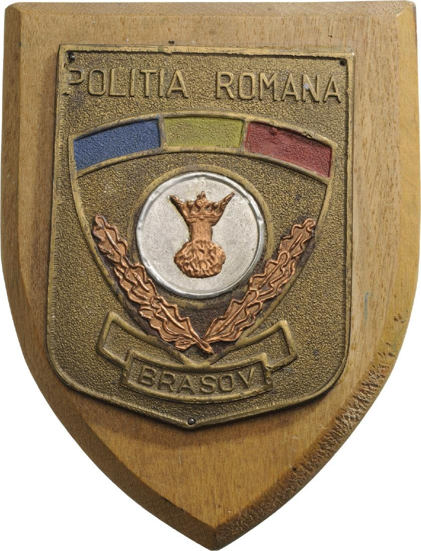 Plaquette of Romanian Police, City of Brasov