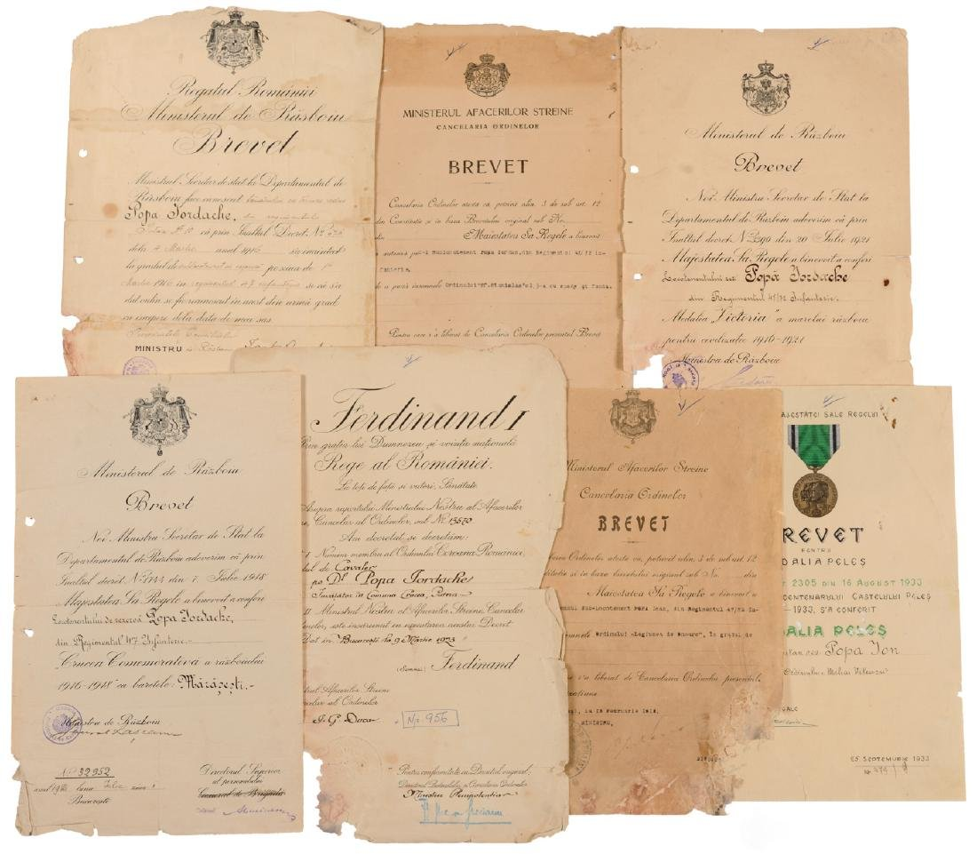 Group of 7 documents of a Captain in the Romanian Army
