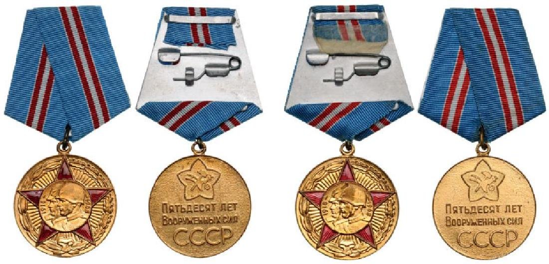 Lot of 2 Medal for 50 Year Jubilee of the Army and