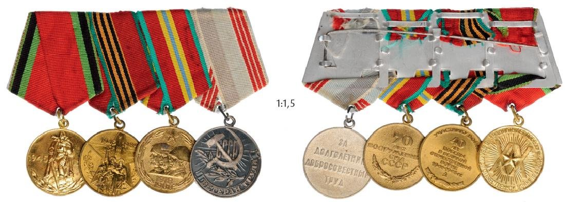 Medal Bar with 4 Decorations
