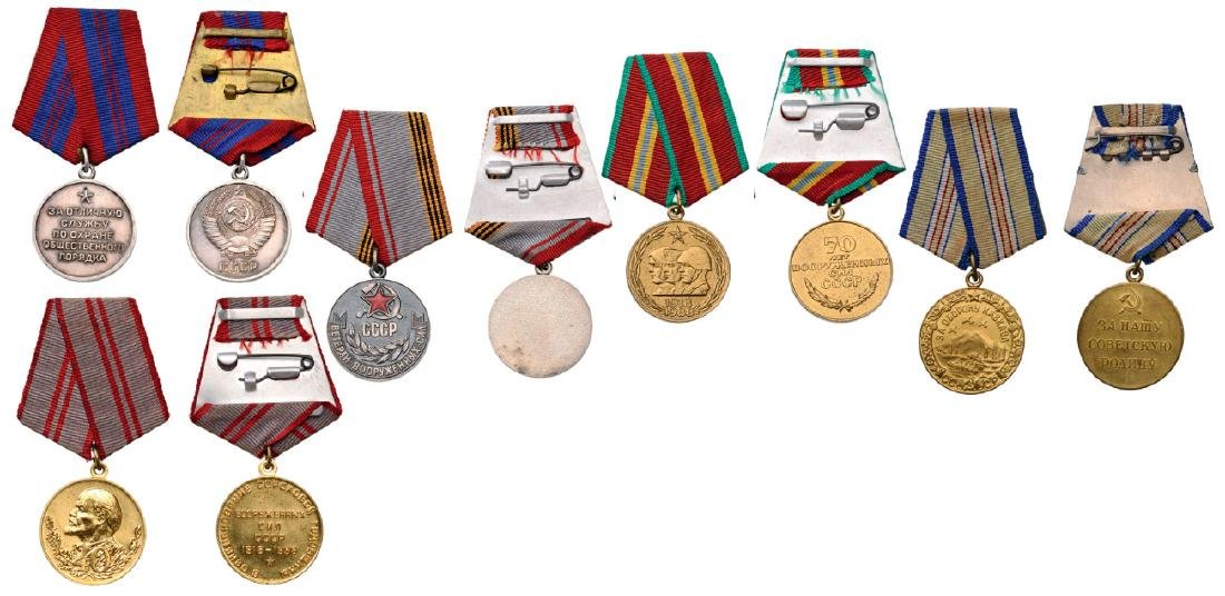 Group of 5 Medals