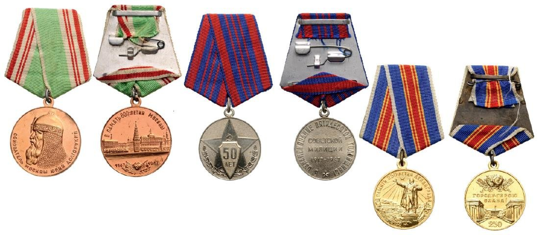 Group of 3 Medals