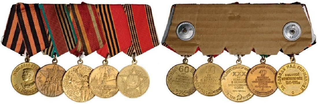 Personal Group of 5 Medals