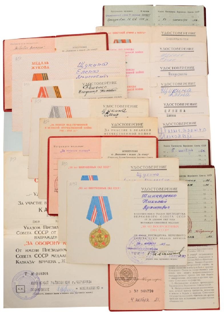 Nice Collection of 19 Awarding Documents