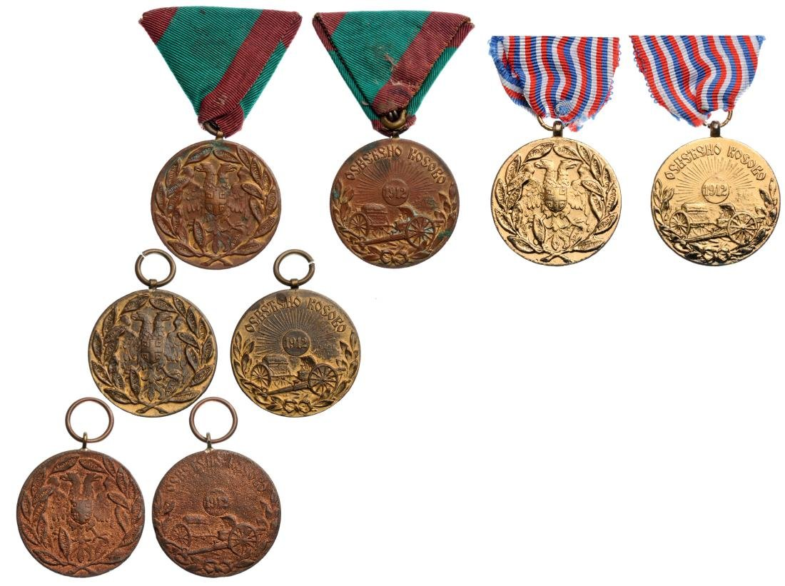 Lot of 4 Commemorative Medals for the Serbo–Turkish