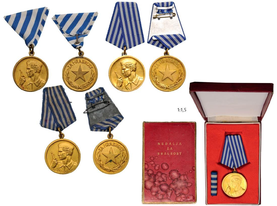 Medal for Bravery, instituted in 1943