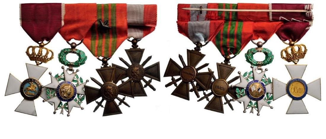 Medal Bar with 4 Decoration
