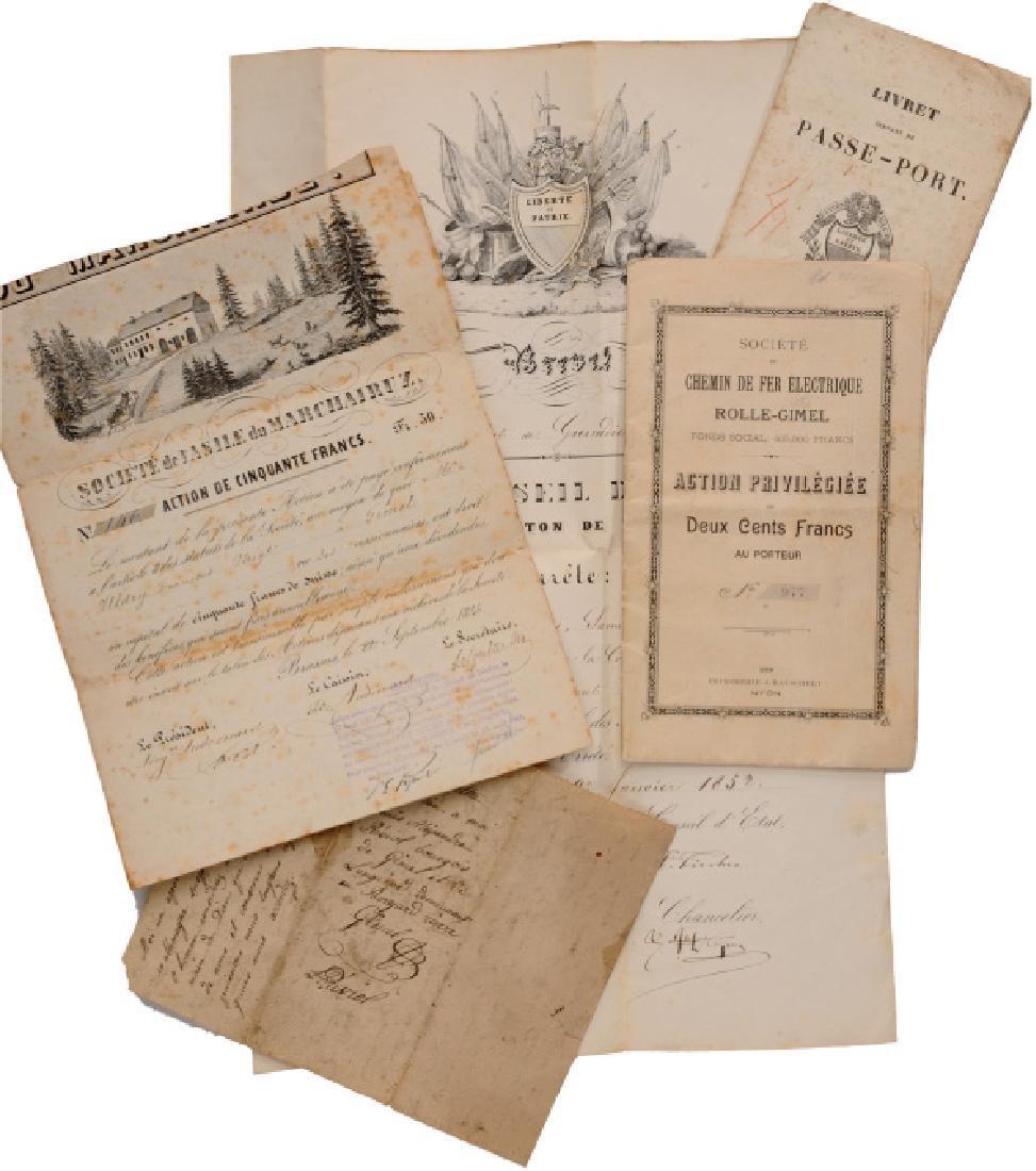 NOMINATION LETTER CANTON DE VAUD, 1852 Group of 7