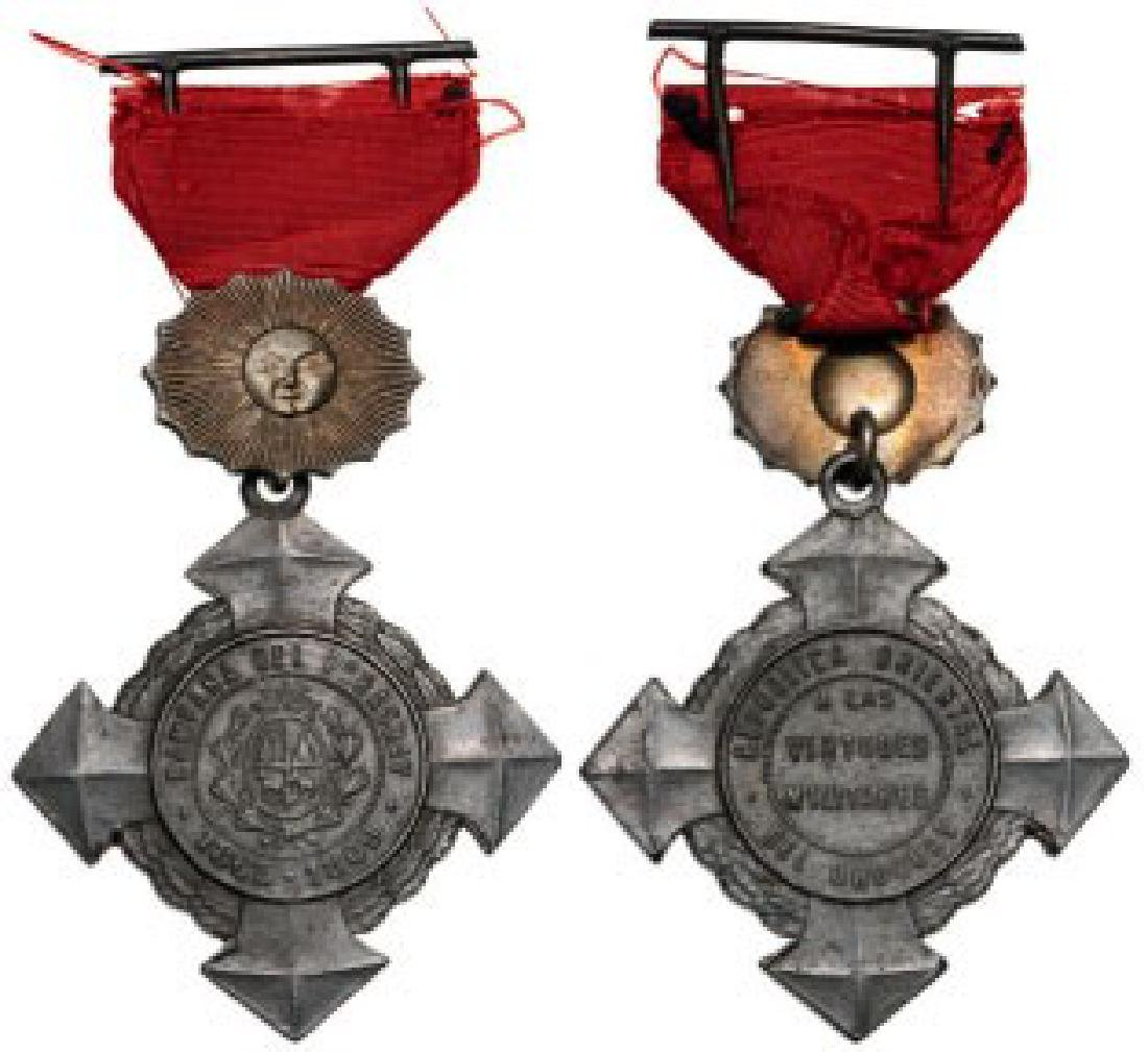 Paraguay Campaign Medal for the Allies in the War of