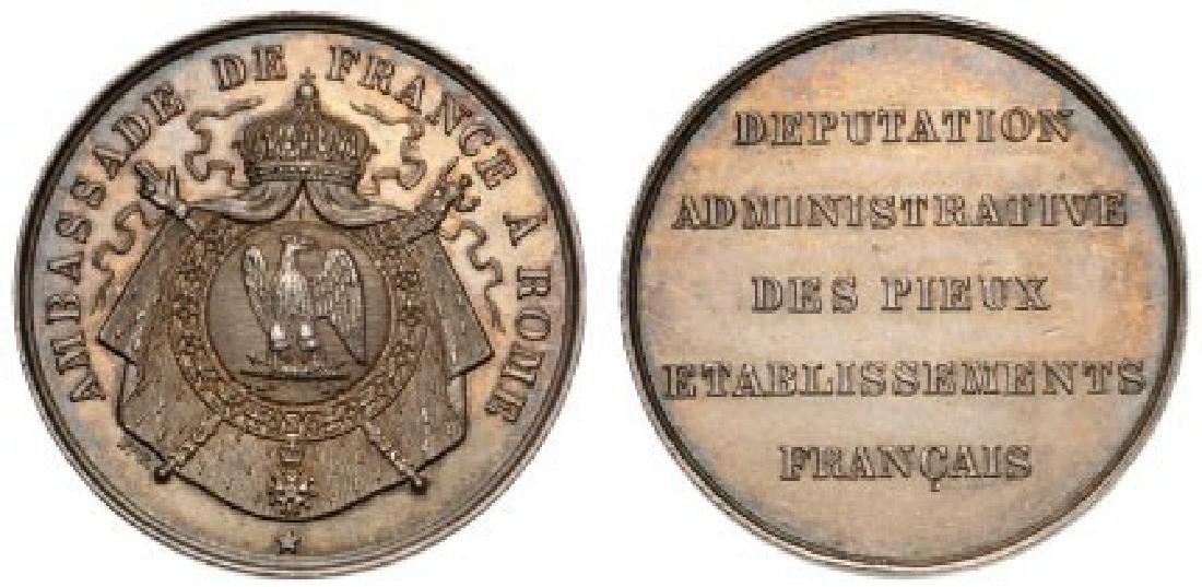 Medal of the French Embassy in the Vatican, 2nd Empire