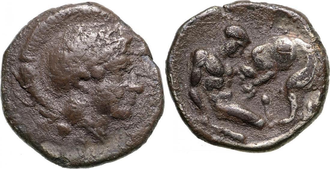 Tarentum, AR Diobol (10 mm, 1.1 g), 325-280 BC