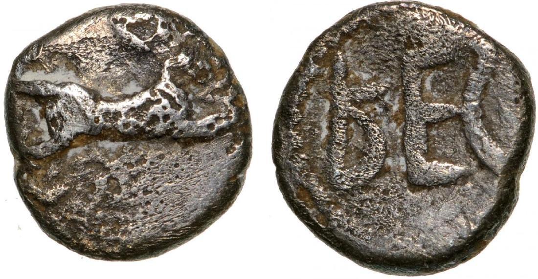 Rhegion, AR Litra (7 mm, 0.62 g), ca, 494 - 461 BC