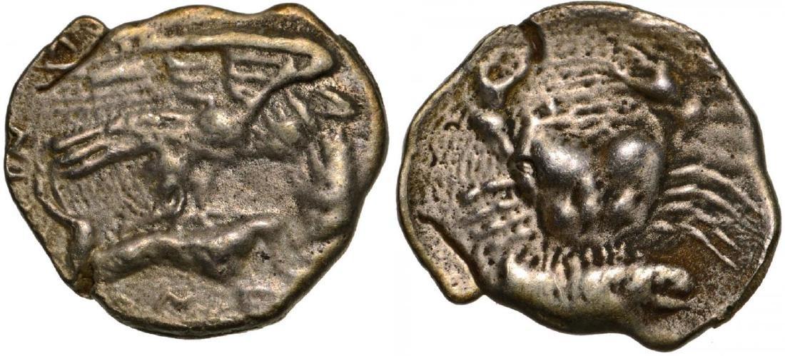 Akragas, AR Litra (11 mm, 0.5 g), 410-406 BC
