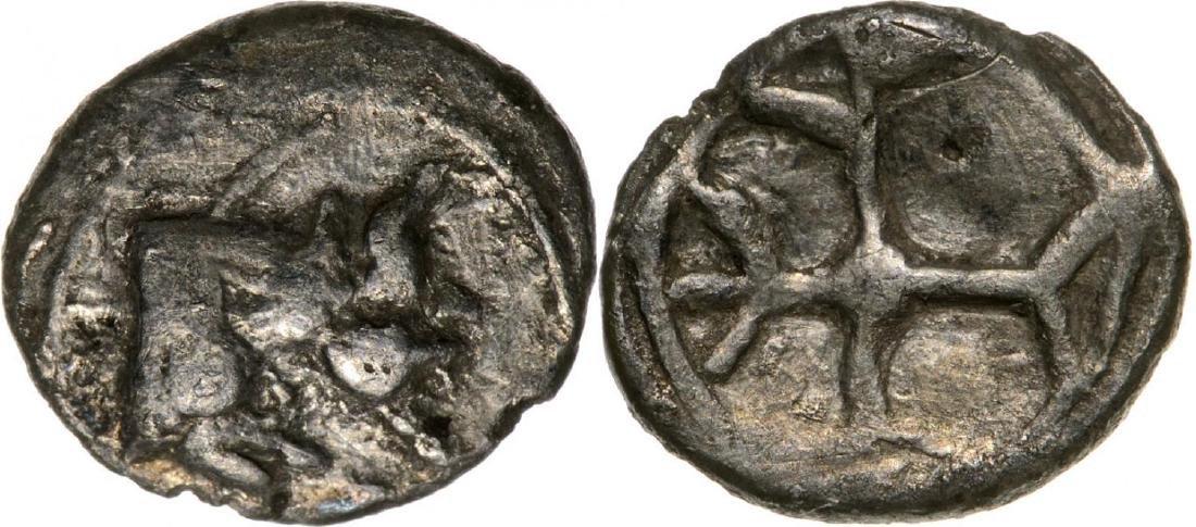 Gela, AR Obol (8 mm, 0.4 g), 480-470 BC