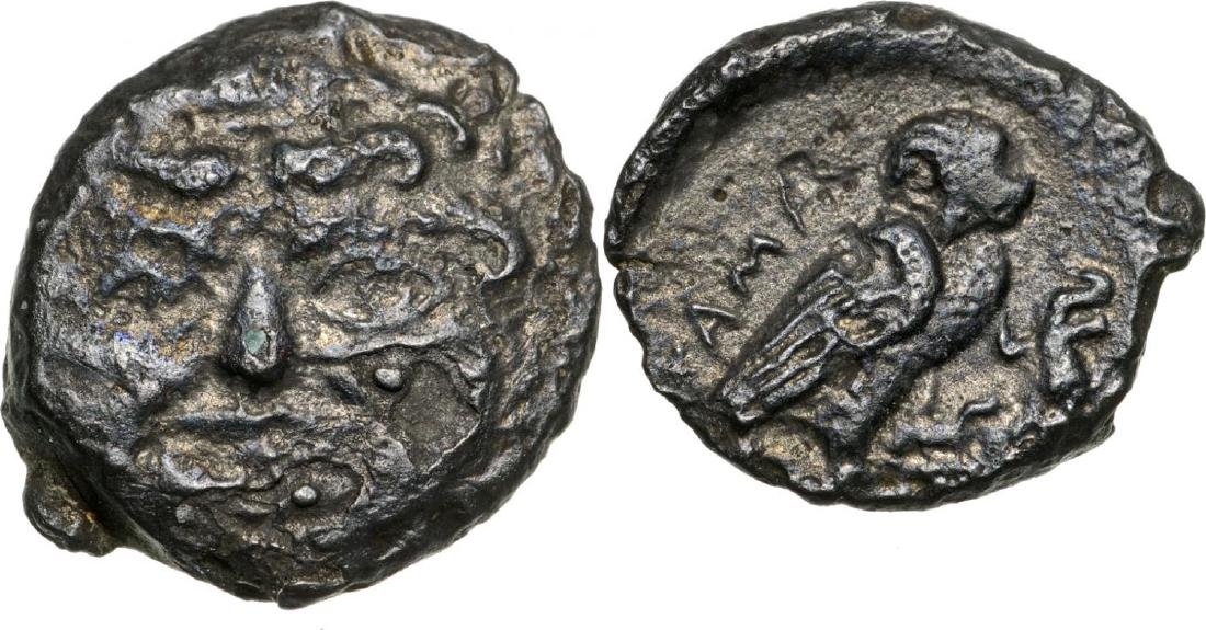 Kamarina, AE Onkia (13 mm, 1.3 g), 420-405 BC