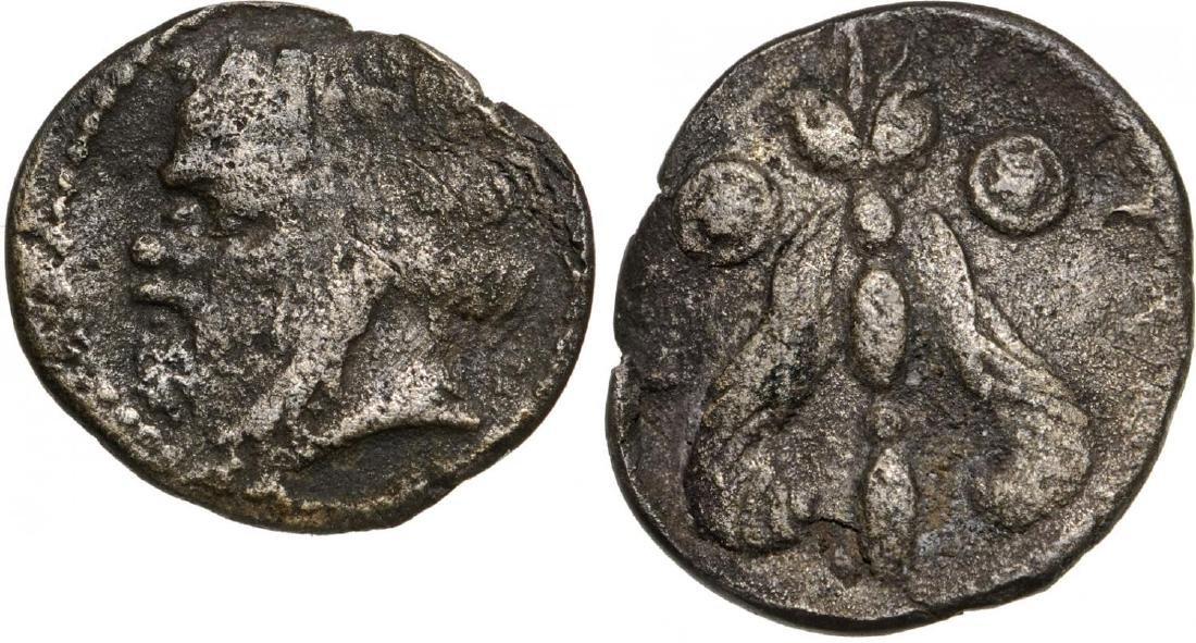 Katane, AR Litra (11 mm, 0.69 g), ca. 420 BC