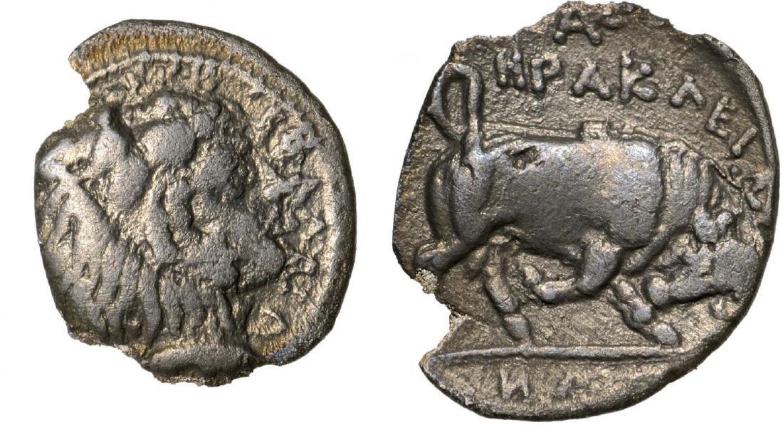 Kephaloidion, AR Litra (12 mm, 0.60 g), ca. 400 BC