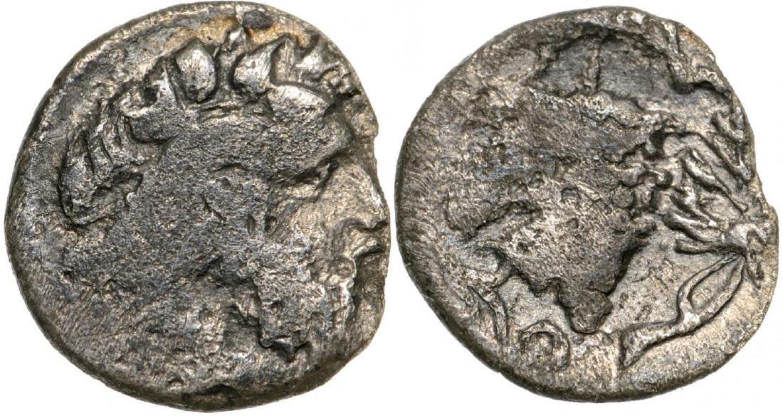 Naxos, AR Litra (10 mm, 0.41 g), 415-403 BC