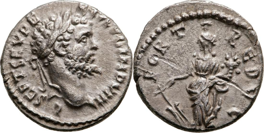 Septimius Severus (193-211) Denar, Silver, (3.15 g)