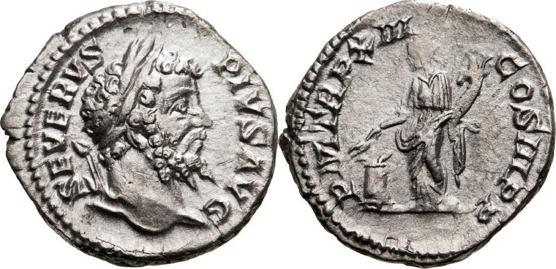Septimius Severus (193-211) Denar, Silver, (3.18 g)