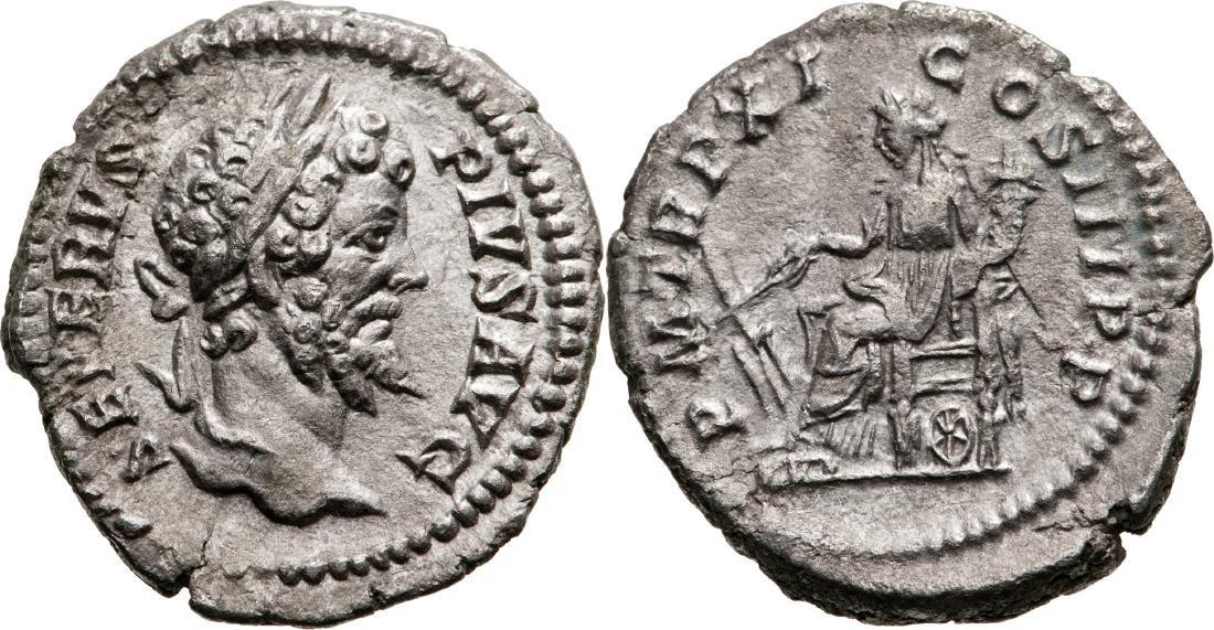 Septimius Severus (193-211) Denar, Silver, (2.79 g)