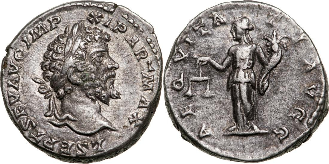 Septimius Severus (193-211) Denar, 198-202 A.D., Mint