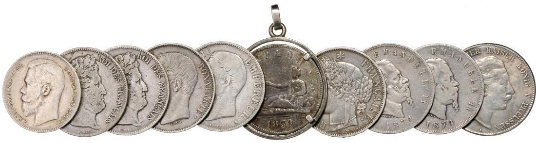 Lot of 10 large Silver Crowns