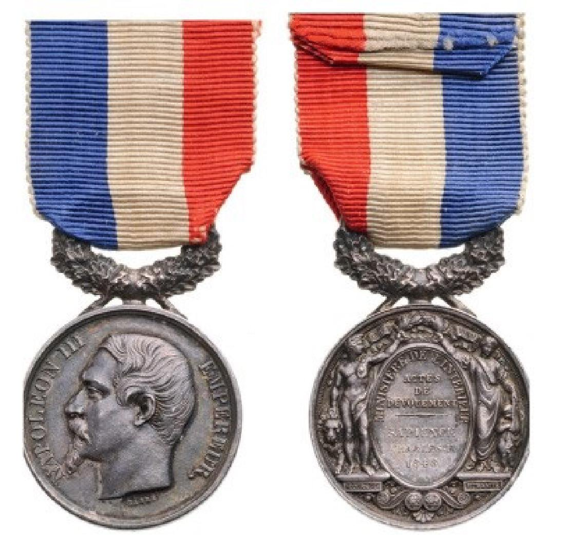Life Saving Medal, 2nd Empire (1852)