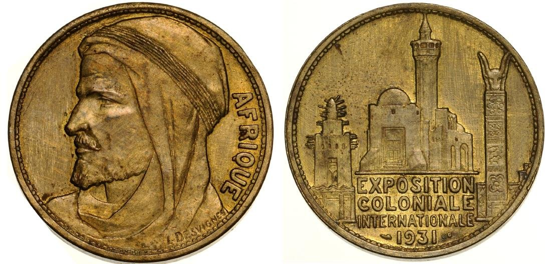 Medal on the International Colonial exhibition in