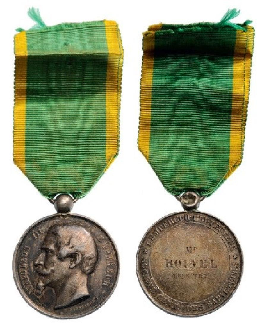 Napoleon III, Central Society of Rescuers Medal